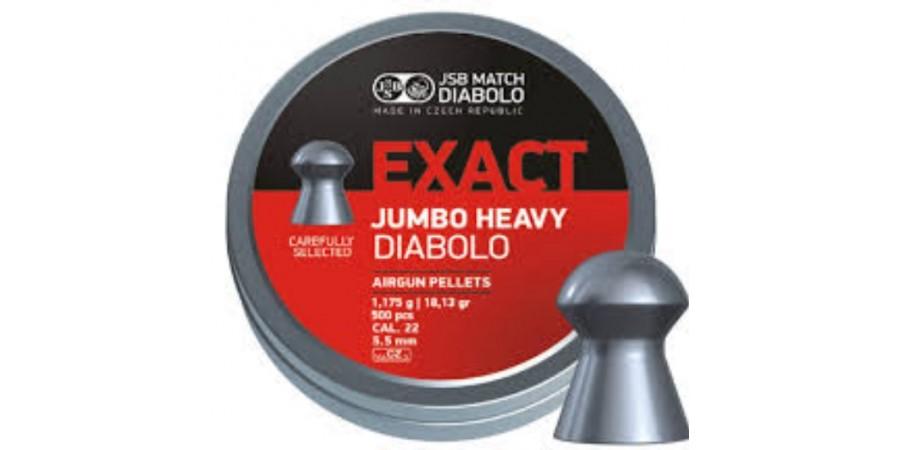 Пульки JSB Diabolo JUMBO EXACT 5.52 мм (cal.22) 1.175 г.