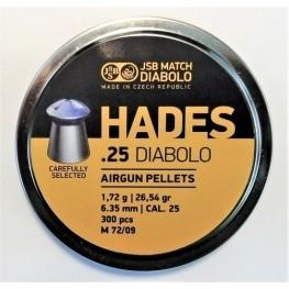 Пульки  JSB Hades 6,35 мм (cal.25) 1,7 г (300 шт)