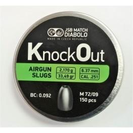 Пули JSB KnockOut Slug 6,37 мм, 2,17 гр