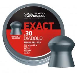 Пульки  пневматические JSB Diabolo Exact  7,62 мм (сal.30) 2,9г (150 шт.)