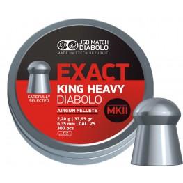 Пульки JSB Diabolo KING EXACT HEAVY MK II 6.35 мм (cal.25) 2.2 г (300 шт.)