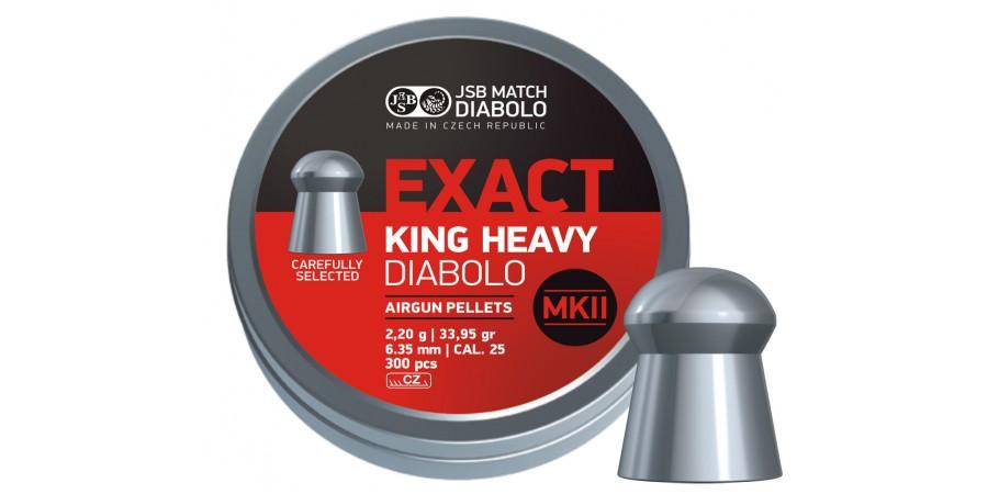 JSB Diabolo KING EXACT HEAVY MK II 6.35 мм (cal.25 ) 2.2 г (300 шт.)