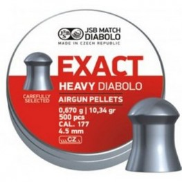 JSB Diabolo EXACT HEAVY cal.177 (4.52 мм) 0.67 г (500 шт.)