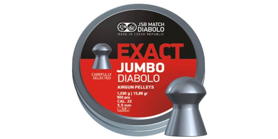 Пульки JSB Diabolo JUMBO EXACT 5.52 мм (cal.22) 1.03 г.