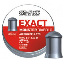 Пульки JSB Diabolo EXACT MONSTER 4,52 мм (cal.177) 0,87 г (400 шт.)