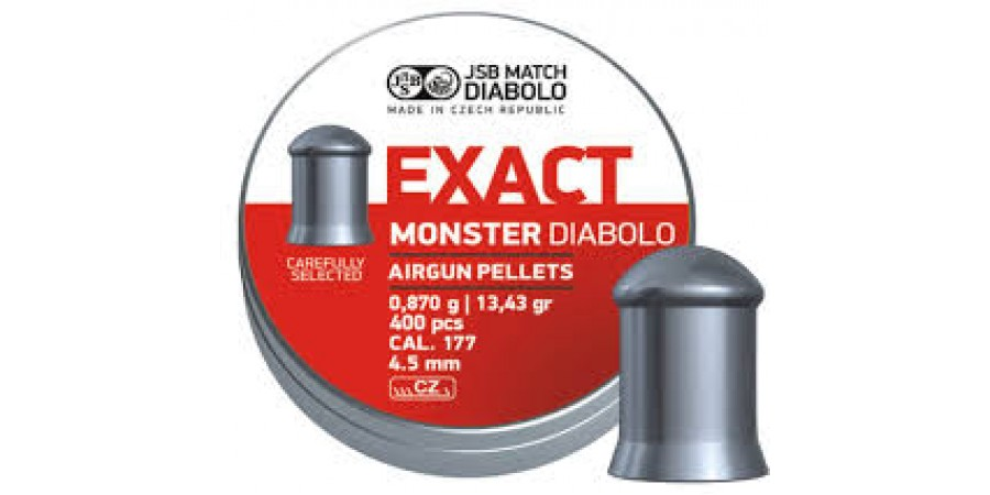 JSB Diabolo EXACT MONSTER 4,52 мм (cal.177) 0,87 г (400 шт.)