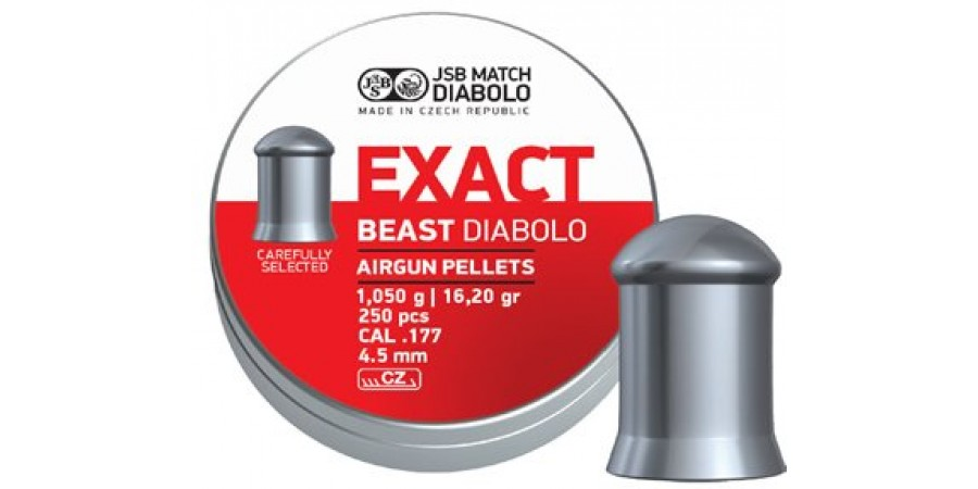 JSB Diabolo EXACT BEAST 4.52 мм (cal.177) 1.05 г (250 шт.)
