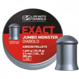 Пульки JSB Diabolo JUMBO EXACT MONSTER 5,52 мм (cal.22) 1,645 г (200 шт.)