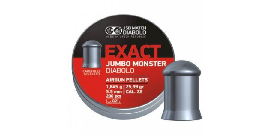JSB Diabolo JUMBO EXACT MONSTER 5,52 мм (cal.22) 1,645 г (200 шт.)
