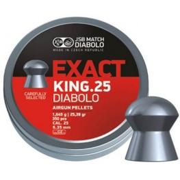 JSB Diabolo KING EXACT cal.25 (6.35 мм) 1.645 г (350 шт.)