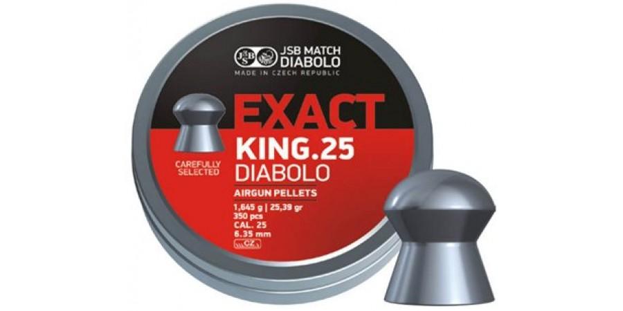 JSB Diabolo KING EXACT 6.35 мм (cal.25) 1.645г (350 шт.)