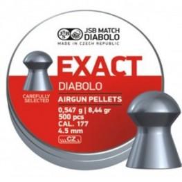 Пульки JSB Diabolo EXACT 4.52 мм (cal.177) 0.547 г (500 шт.)