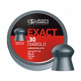 Пульки  пневматические JSB Diabolo Exact  7,62 мм (сal.30) 3,25г (150 шт.)