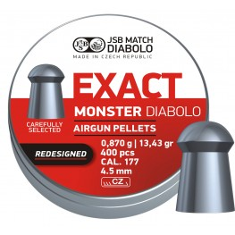 Пульки JSB Diabolo EXACT MONSTER Redesigned 4,52 мм (cal.177) 0,87 г (400 шт.)