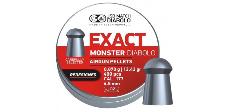 JSB Diabolo EXACT MONSTER Redesigned 4,52 мм (cal.177) 0,87 г (400 шт.)