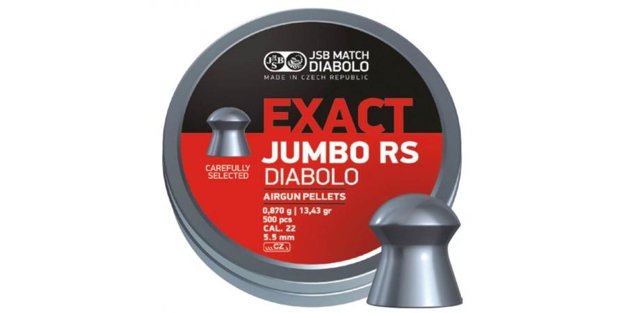 JSB Diabolo JUMBO EXACT RS 5.52 мм (cal.22) 0.87 г (500 шт.)