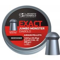Пульки JSB Diabolo JUMBO EXACT MONSTER Redesigned 5,52 мм (cal.22) 1,645 г (200 шт.)