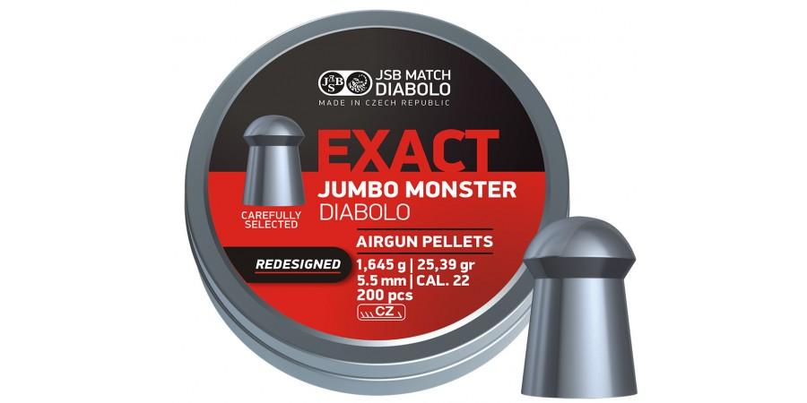 JSB Diabolo JUMBO EXACT MONSTER Redesigned 5,52 мм (cal.22) 1,645 г (200 шт.)