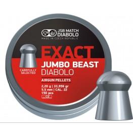 Пульки JSB Diabolo JUMBO EXACT BEAST 5.52 мм (cal.22) 2.2 г (150 шт.)
