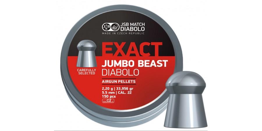 JSB Diabolo JUMBO EXACT BEAST 5.52 мм (cal.22) 2.2 г (150 шт.)